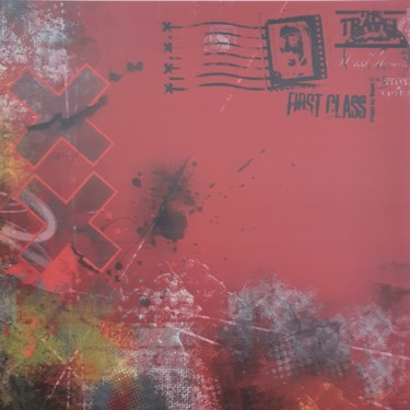 Abstract red area